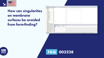 FAQ 003228 | How can singularities on membrane surfaces be avoided from form-finding?