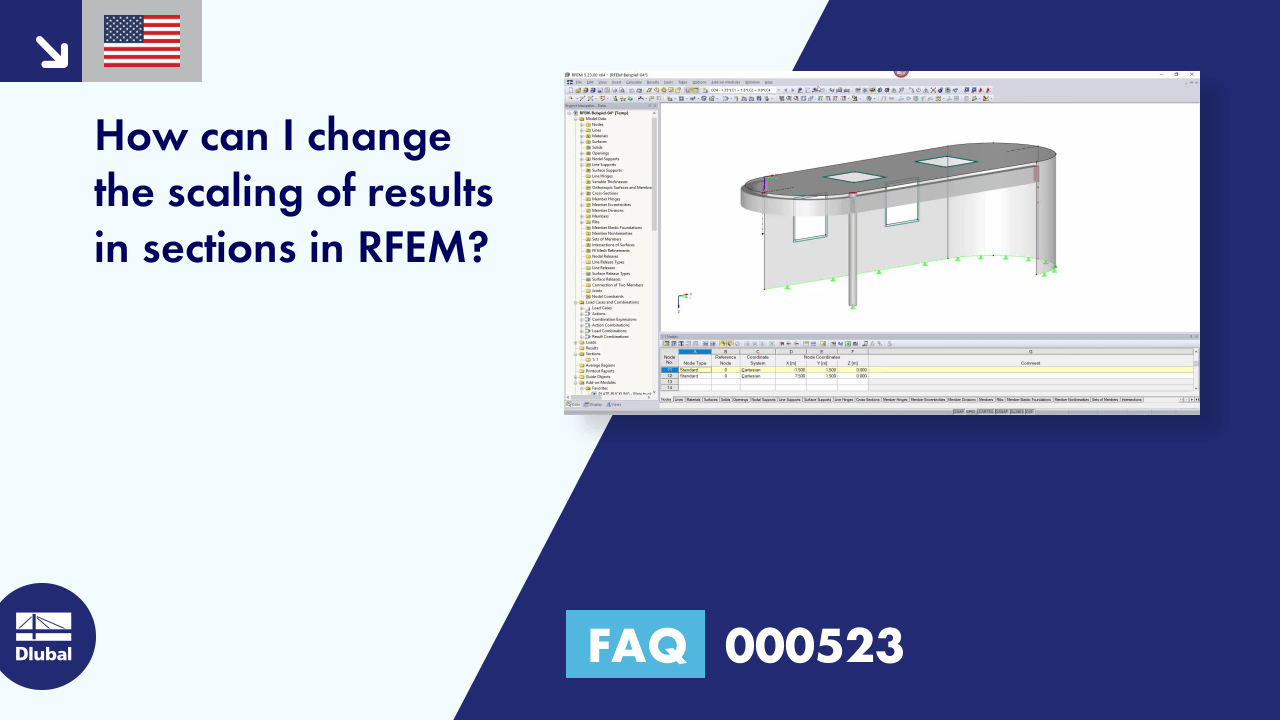 FAQ 000523 | How can I change the scaling of results in sections in RFEM?