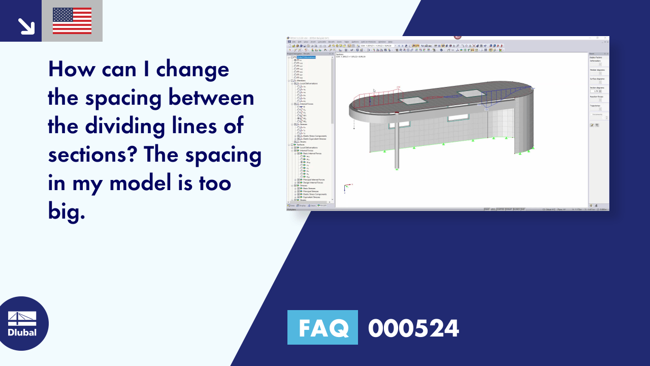 FAQ 000524 | <p>How can I change the spacing between the dividing lines of sections? The spacing in my model is too big.</p>