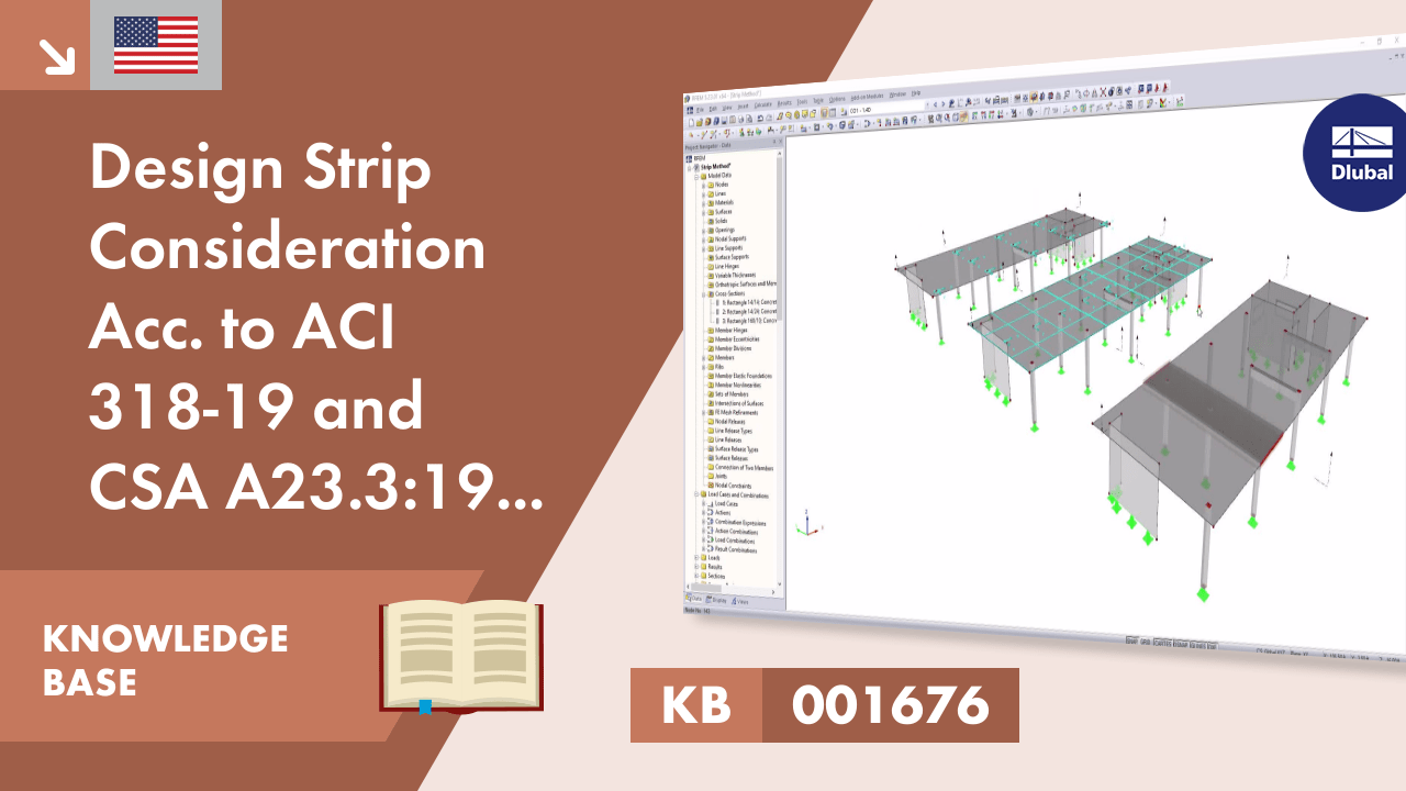 KB 001676 | Design Strip Consideration Acc. to ACI 318-19 and CSA A23.3:19 in RFEM