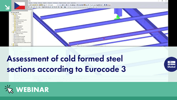 [CS] Assessment of cold formed steel sections according to Eurocode 3