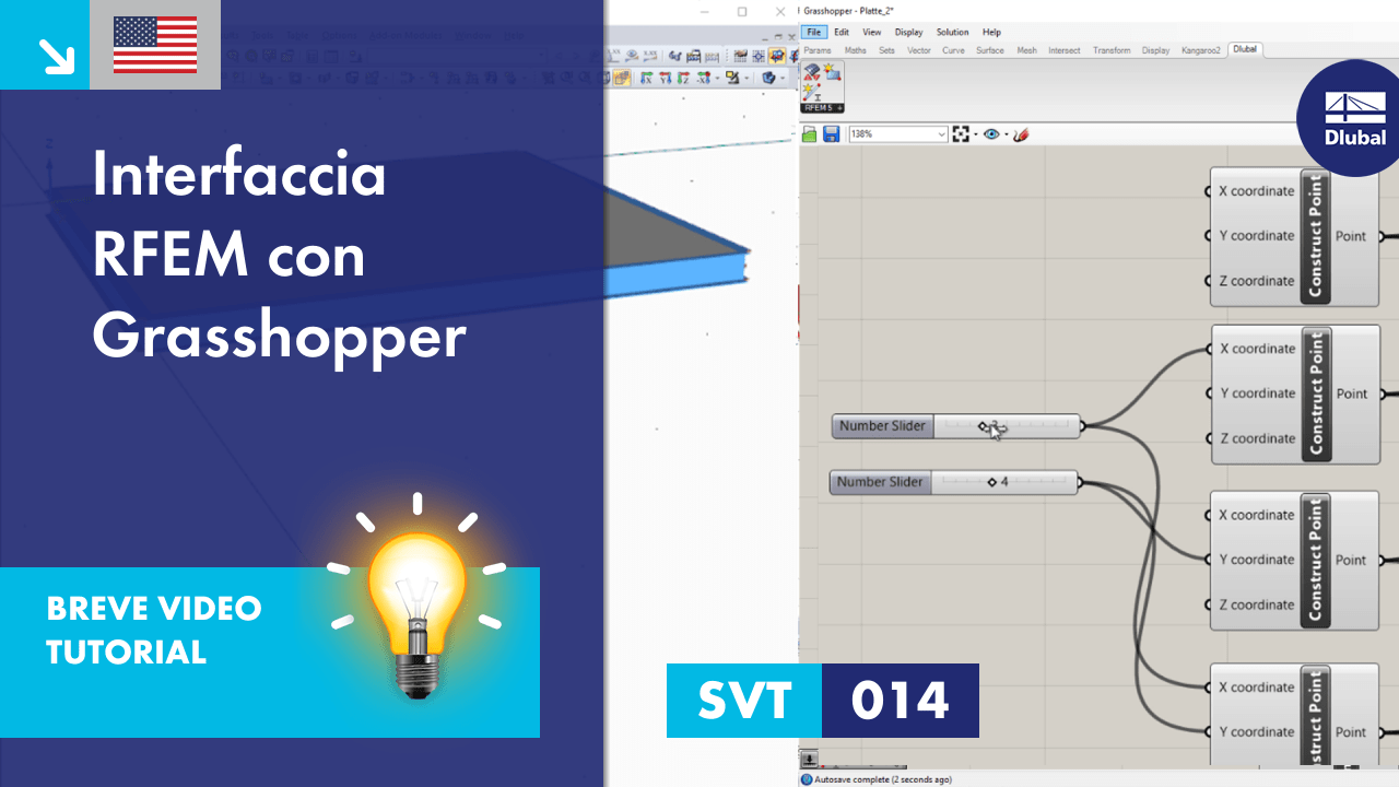 [EN] SVT 014 | Interfaccia RFEM con Grasshopper