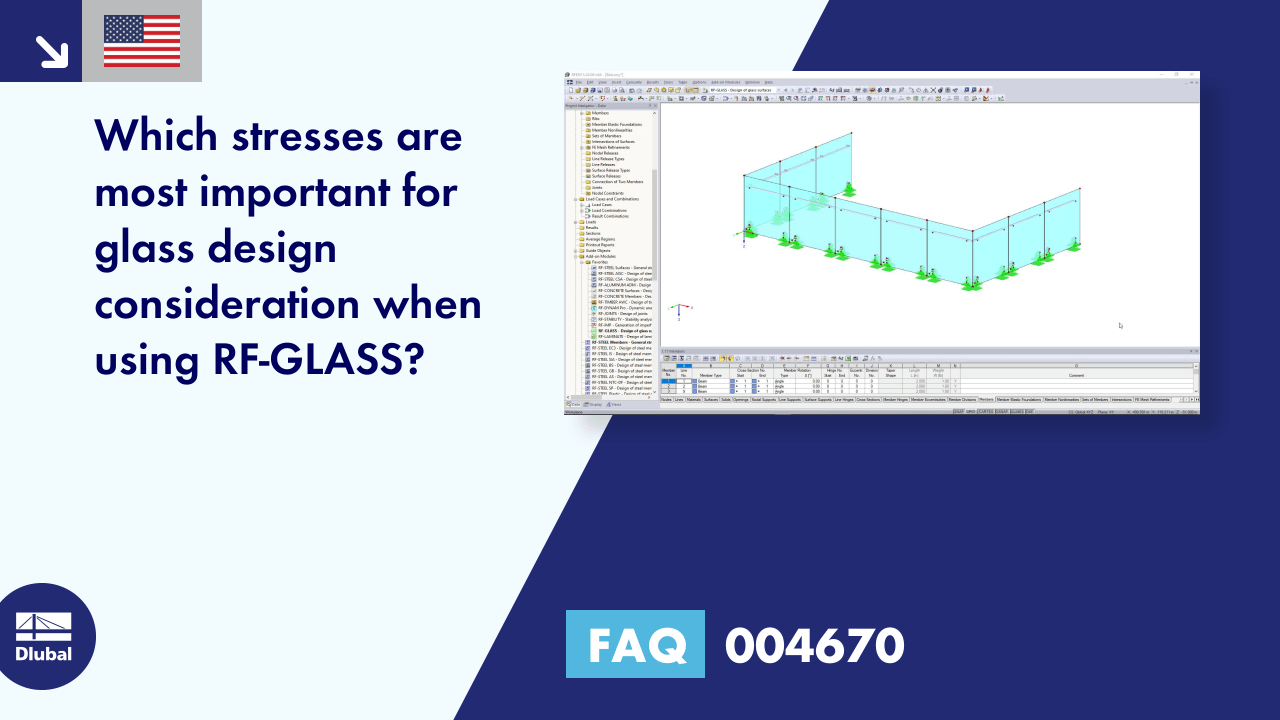 FAQ 004670 | Which stresses are most important for glass design consideration when using RF-GLASS?