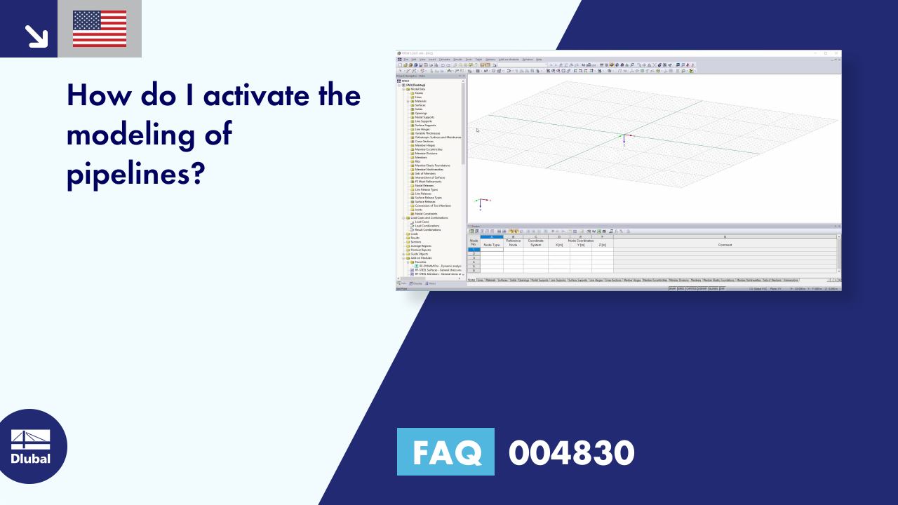 FAQ 004830 | How do I activate the modeling of pipelines?