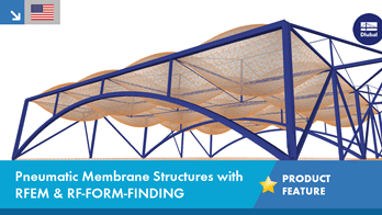 Pneumatic Membrane Structures with RFEM & RF-FORM-FINDING