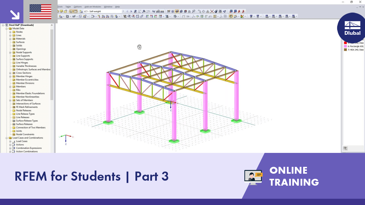 Online Training | RFEM for Students | Part 3