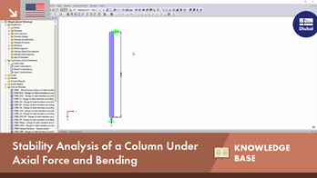 KB 001622 | Stability Analysis of a Column Under Axial Force and Bending