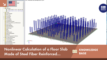 KB 001623 | Nonlinear Calculation of a Floor Slab Made of Steel Fiber Reinforced Concrete in the Ultimate Limit State with RFEM