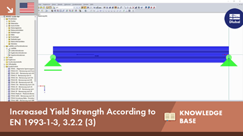 KB 001652 | Increased Yield Strength According to EN 1993-1-3, 3.2.2 (3)