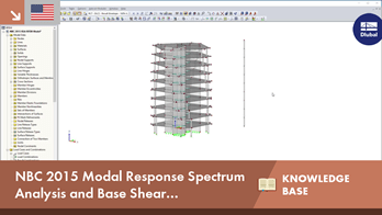NBC 2015 Modal Response Spectrum Analysis and Base Shear Considerations