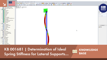 KB 001681 | Determination of Ideal Spring Stiffness for Lateral Supports at Buckling Members