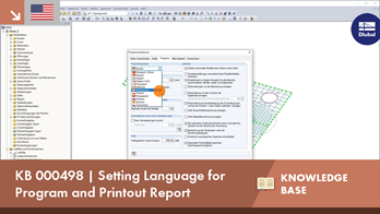 KB 000498 | Setting Language for Program and Printout Report