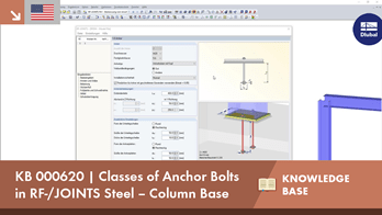 KB 000620 | Classes of Anchor Bolts in RF-/JOINTS Steel – Column Base