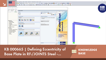 KB000665 | Defining Eccentricity of Base Plate in RF-/JOINTS Steel - Column Base