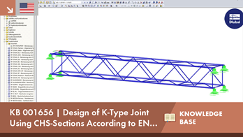 KB 001656 | Design of K-Type Joint Using CHS-Sections According to EN 1993-1-8