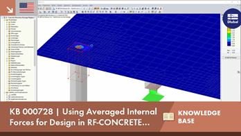 KB 000728 | Using Averaged Internal Forces for Design in RF-CONCRETE Surfaces