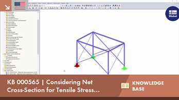 KB 000565 | Consideration of the net cross-section for tensile stress according to EN 1993-1-1