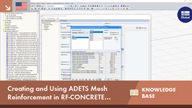 Create and use the ADETS welded mesh in the RF-CONCRETE Surfaces add-on module of RFEM