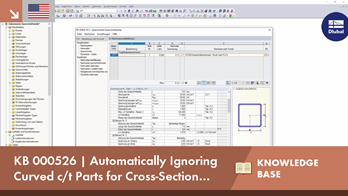 KB 000526 | Automatically ignore curved c/t-parts when classifying cross-sections