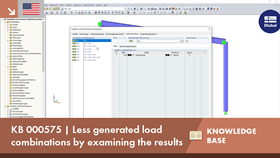KB 000575 | Less generated load combinations by examining the results