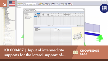 KB 000487 | Input of intermediate supports for the lateral support of members and sets of members