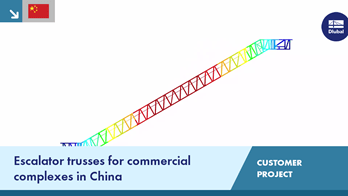 [ZH] CP 001195 | Escalator trusses for commercial complexes in China