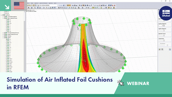 Webinar: Simulation of Air Inflated Foil Cushions in RFEM