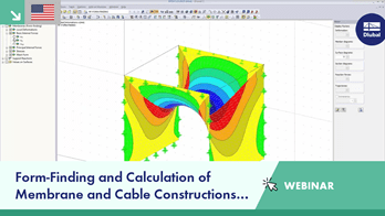 Webinar: Form-Finding and Calculation of Membrane and Cable Constructions in RFEM