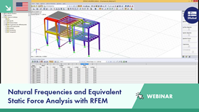 Webinar: Natural Frequencies and Equivalent Static Force Analysis with RFEM