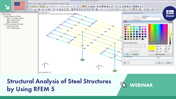 Dlubal Webinar: Structural Analysis of Steel Structures by Using RFEM 5