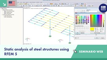 Jornada informativa de Dlubal en línea 2015 3/6: Static analysis of steel structures using RFEM 5