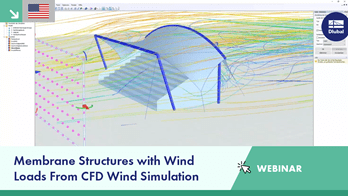Webinar | Membrane Structures with Wind Loads From CFD Wind Simulation
