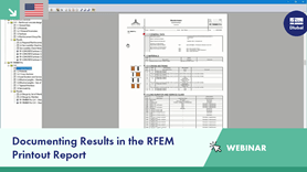 Documenting Results in the RFEM Printout Report