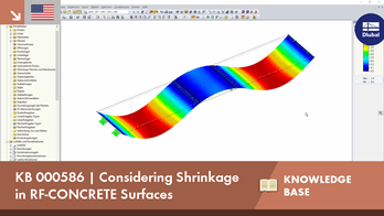 KB 000586 | Considering Shrinkage in RF-CONCRETE Surfaces