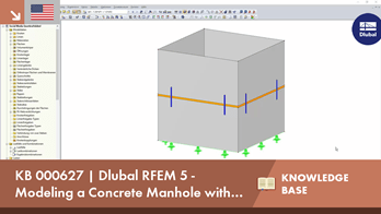 KB 000627 | Dlubal RFEM 5 - Modeling a Concrete Manhole with Shear Dowels