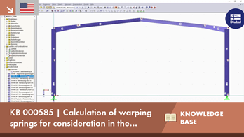 KB 000585 | Calculation of warping springs for consideration in lateral -torsional buckling analy...