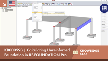 KB000593 | Calculating Unreinforced Foundation in RF-FOUNDATION Pro