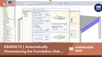 KB000610 | Automatically Dimensioning the Foundation Slab Geometry with RF-/FOUNDATION Pro