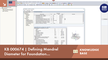 KB 000674 | Defining Mandrel Diameter for Foundation Reinforcement in RF-/FOUNDATION Pro