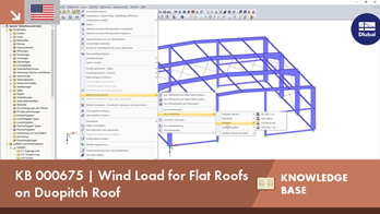 KB 000675 | Wind Load for Flat Roofs on Duopitch Roof