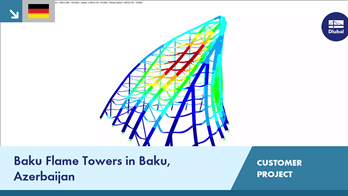 [DE] CP 000682 | Flame Towers in Baku, Azerbaijan