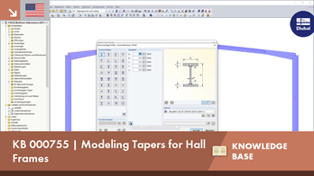 KB 000755 | Modeling Tapers for Hall Frames