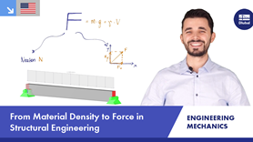 Material Density and Forces in Structural Engineering