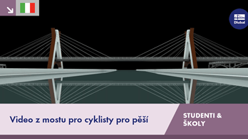 [IT] Video z mostu pro cyklisty pro pěší