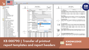 KB 000790 | Transfer of printout report templates and report headers