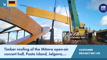 [DE] CP 001149 | Timber roofing of the Mitava open-air concert hall, Pasta Island, Jelgava, Latvia