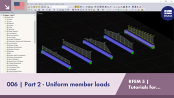 RFEM 5 Tutorial for Students | 006 Part 2 - Uniform member loads