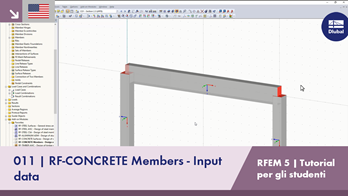 [EN] RFEM 5 Tutorial per studenti | 011 RF-CONCRETE Members - Input data