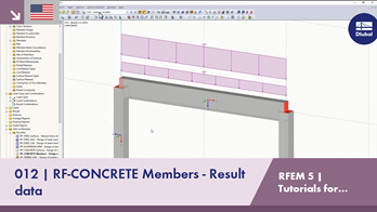 RFEM 5 Tutorial for Students | 012 RF-CONCRETE Members - Result data