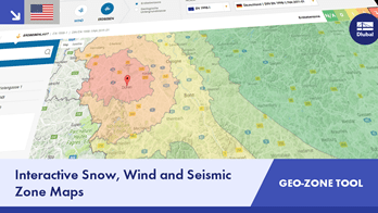 Dlubal Geo-Zone Tool: Interactive Snow, Wind and Seismic Zone Maps